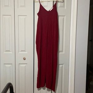 Red strapless maxi dress size S/m